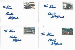 1) Charlie Glotzbach Signed 3x5 Index Card NASCAR Racing Legend 1970 Daytona 500