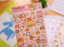 ~ *New San-x Rilakkuma Bear Sticker Sheet A Japan Cute Japan*~ US SHIP +FREE SHP