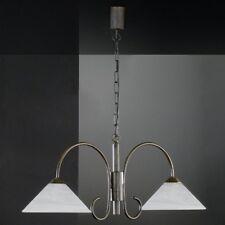 Balkenlampe Lampe Antik Hängeleuchte rund 2 flammig Till Honsel Küchenlampe