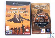 Star Wars: The Clone Wars-Juego De Nintendo Gamecube Y Estuche PAL