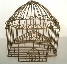 Decorative Ornate Metal Wire Bird House Cage Hanging Planter Basket Decor Only