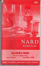 1972 NARD Almanac Gillespies Drugs Caldwell Ohio Louis E. Kazin Ana Maher