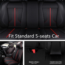 Car Seat Cover Microfiber Leather Full 6D Surround Fit For Standard 5 Seat Autos