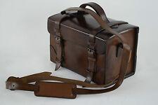 Leder Schultertasche braun Handtasche 100% Büffelleder Patronentasche