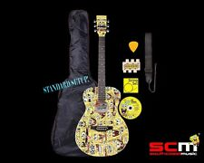 SPONGEBOB SQUAREPANTS STEEL STRING ACOUSTIC GUITAR PACK STANDARD SET UP NEW