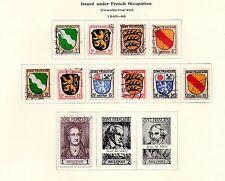 Germania-parziale 1945-46 OCCUPAZIONE FRANCESE Set. Scott #4N1-4N11. USATO