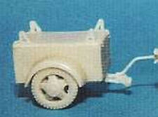 MGM 080-222 1/72 Resin WWII German Closed one Axle Trailer.