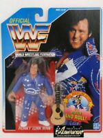 WWF WWE Hasbro Figure Honky Tonk Man Wrestling 1991 Blue US card Vintage New
