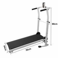 Folding Manual Treadmill Running Machine Cardio Home Fitness Incline Exercise UK
