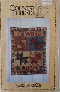"Country Threads SEWING ROOM #206 24"" x 32"" Quilt Pattern"