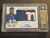 2014 National Treasures Hats Off Odell Beckham Jr Auto BGS 9.5 Rookie Autograph