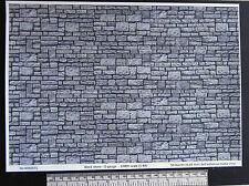 O gauge (1:48 scale) block stone  self adhesive vinyl - A4 sheet