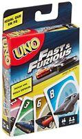 Uno Kartenspiel Fast & Furious Sonderedition mit Spezialkarte für ein neue Regel