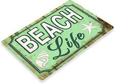 TIN SIGN Beach Life Beach House Cottage Rustic Metal Décor B952