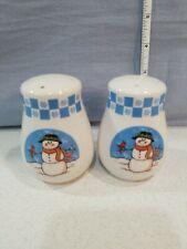 GEI Christmas Snowman With Cardinal Salt & Pepper  Shakers