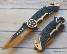 8.25 INCH MTECH SPRING ASSISTED TACTICAL RESCUE KNIFE WITH POCKET CLIP