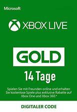 Xbox Live Gold 14 Tage Key Mitgliedschaft Karte Xbox One & 360 Card 14 Days Code