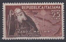 1952 ITALIA CARDINALE MASSAIA  **  L. 25 PERFETTO