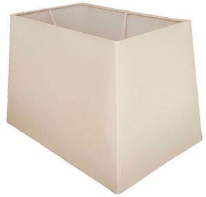 "13"" 15"" 17"" Cream Rectangular Table Lamp Shade Modern New"