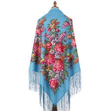 f0087a2d5f Pavlovo Posad Russian Shawl 100 Wool Summer Dress Wrap Scarf 148x148 Cm