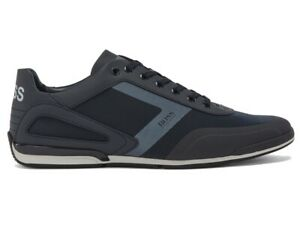 Hugo Boss Saturn Lowp Act5 50439553 401 Mens Trainers Blue Sneakers Shoes
