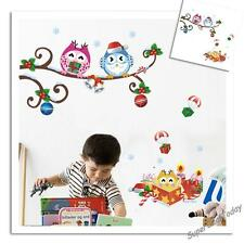 Baby Kid Nursery RoomWall Decals Removable Stickers Owl Tree Branch Christmas