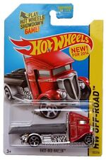 2014 Hot Wheels #105 HW Off-Road Stunt Circuit Fast-Bed Hauler red