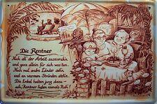 Beruf Rentner Blechschild Metallschild Schild gewölbt Metal Tin Sign 20 x 30 cm