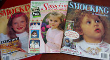 AUSTRALIAN SMOCKING & EMBROIDERY 22,24,27 -  1992,1993,1994, patterns included