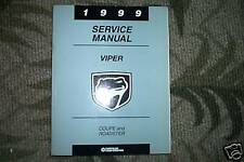 1999 Dodge Viper Coupe Roadster Service Shop Repair Manual OEM FACTORY