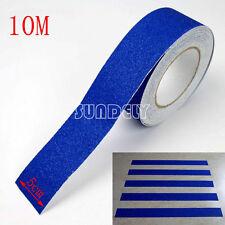 "Blue Anti slip tape 2"" roll grit flooring adhesive Safety grip safe (non skid)"