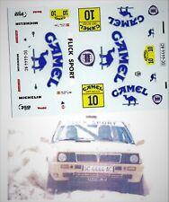 Decals 1/43e Lancia Delta 4WD Cam..el M.Perez Canaria Off Road 1990