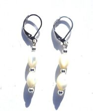 REAL SHELL& LEVER BACK EARRINGS WITH ORGANZA GIFT BAG -POST DISCOUNTS AVAILABLE