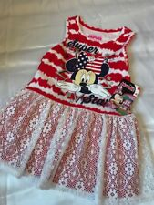 DISNEY MINNIE MOUSE GIRLS 2T KNIT DRESS WITH LACE OVERLAY ADORABLE