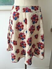 Seasalt Haven Skirt - Aster Bouquet Ecru - UK10 EU38 - Sales Sample SAVE!
