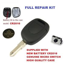 Vauxhall Movano 1 button Remote Key Full Repair kit Micro switch case battery V2