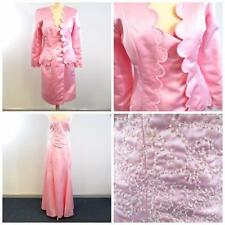 Bridesmaid/Mother of Bride/Maid of Honor-2 Dresses-Pair- Pink/Beading-Sz:12 & 16