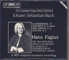 J.S. Bach - Hans Fagius: The Complete Organ Music, Vol. 8 (2 CDs, BIS) Like New