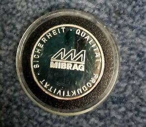 Medaille MIBRAG Brikettfabrik Phönix Bergbau Silber polierte Platte