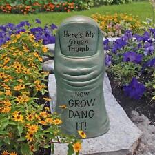 Gardener's Green Thumb Garden Now Grow Dang It! Outdoor Garden Statue