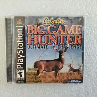 Cabela's Big Game Hunter For PS1 *CIB *TESTED Sony PlayStation 1