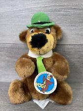 "9"" Vintage 1980 Mighty Star Yogi Bear PlUsh Toy Hanna Barbera With Tag 📖 Info"