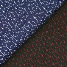 100% Cotton Fabric FQ Hexagon Square Cubic Box Beehive Honeycomb FabricTime VS32