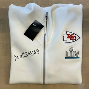 Nike Kansas City Chiefs Mens Super Bowl LIV 54 Media Showout Hoodie Jacket