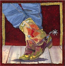 Boot Fancy by Nancy Cawdrey Western Cowgirl Cowboy Boot Limited Edition Canvas