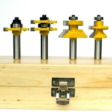 4 pc V-Joint V-Notch & Assembly Tongue & Groove Router Bit Set S