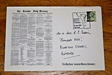 January 1974 First Day Cover Leicester Mercurial 3 1/2p stamp