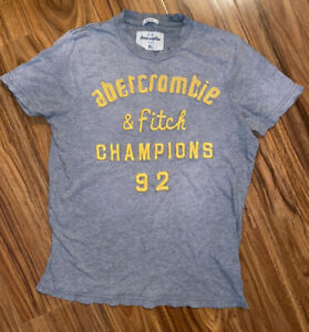 BOYS Abercrombie & Fitch Gray Muscle T-Shirt / Tee Size Youth XL !!