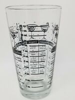 Vintage 12 Ounce Cocktail Mixing Recipe and Measurement Glass