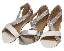 Zapatos de Novia Sandalias con Brillo Steinechen Muchos Colores Plano 201-19